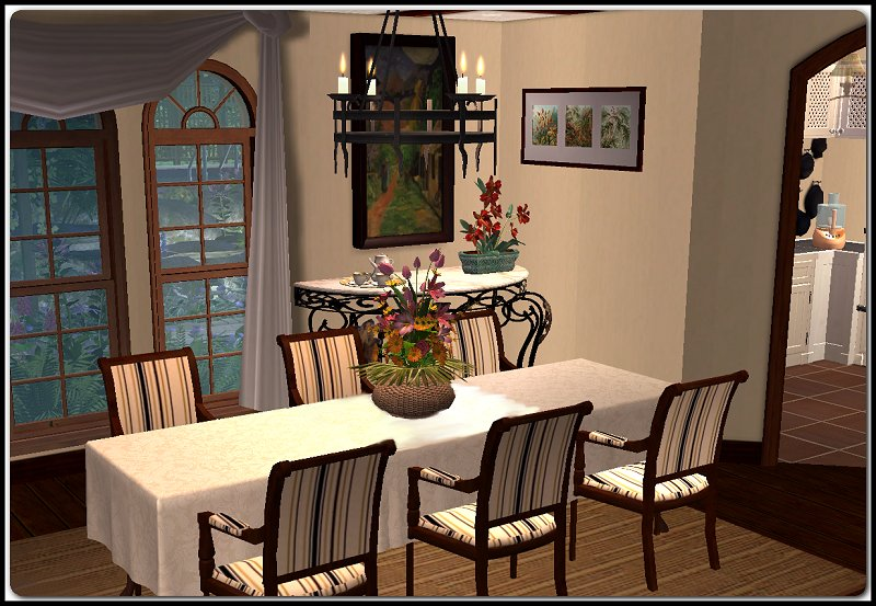 Sim house extreme makeover 2009 amyluthien 39 s entry for Sims 3 dining room ideas